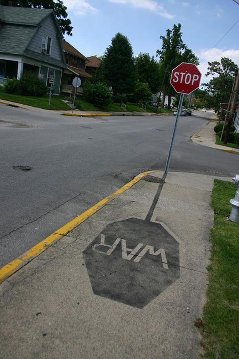 stop war stop sign