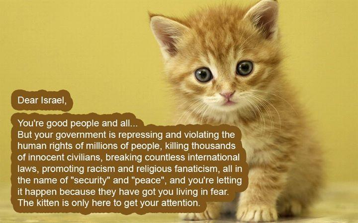 Dear Israel...