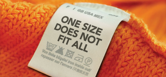 Whoever invented 'one size fits all' clothing really needs to eat a cookie or something.